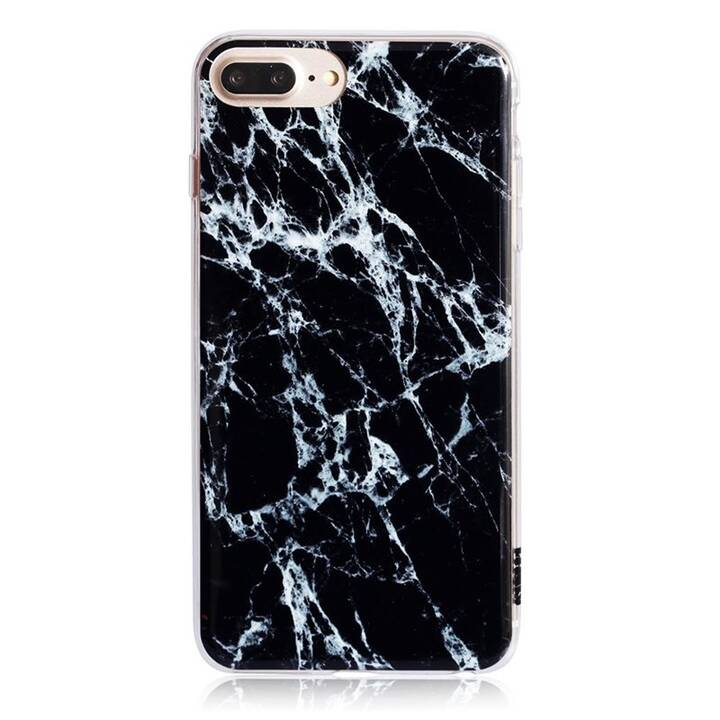 UUNIQUE Backcover Marble (iPhone 6s, iPhone 6s Plus, iPhone 7 Plus, iPhone 8 Plus, Nero)