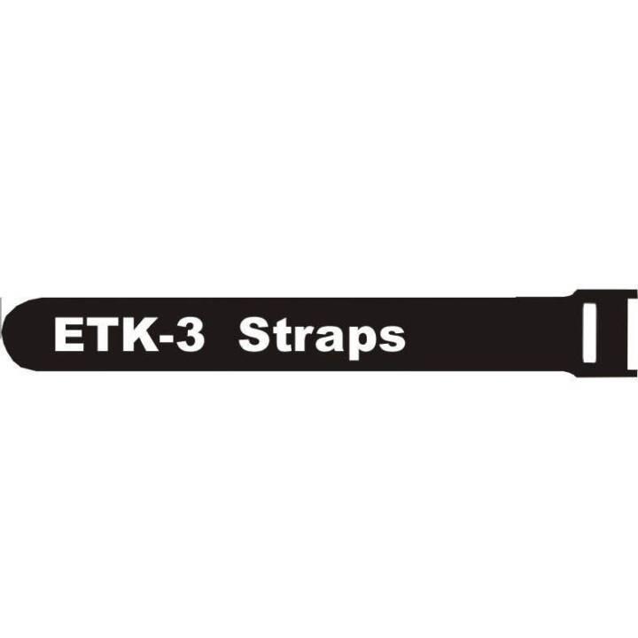 FASTECH Klettkabelbinder ETK-3-2 Strap Schwarz 200 mm x 13 mm