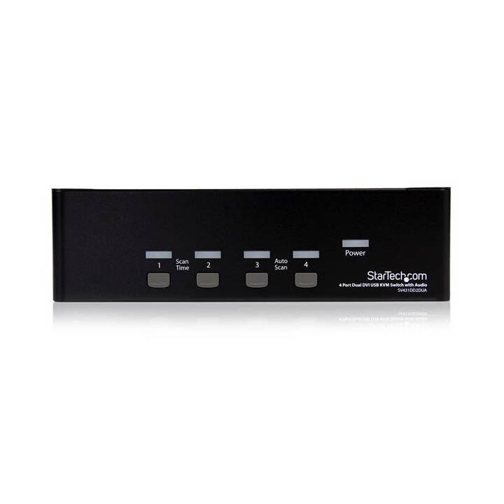 STARTECH.COM 4-Port Dual DVI / USB KVM Switch
