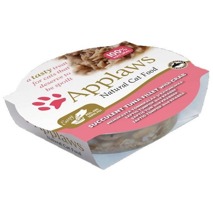 APPLAWS Cat Pot (Adulto, Tonno, 60 g)