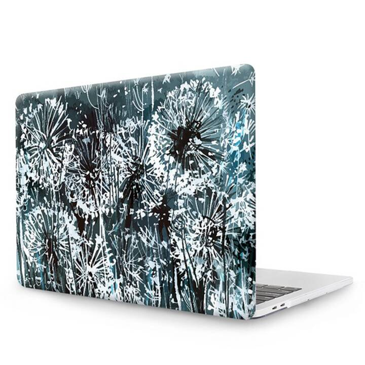 """EG MTT Copertina per computer portatile con copertura tastiera, protezione antipolvere, penna a sfera per MacBook Pro 13"""" Touch Bar - Fiori grigi"""