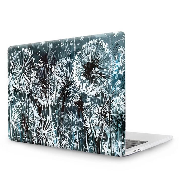 """EG MTT Laptop Abdeckung mit Tastaturabdeckung, Anti-Staubschutz, Kugelschreiber für MacBook Pro 13"""" CD ROM - Graue Blumen"""