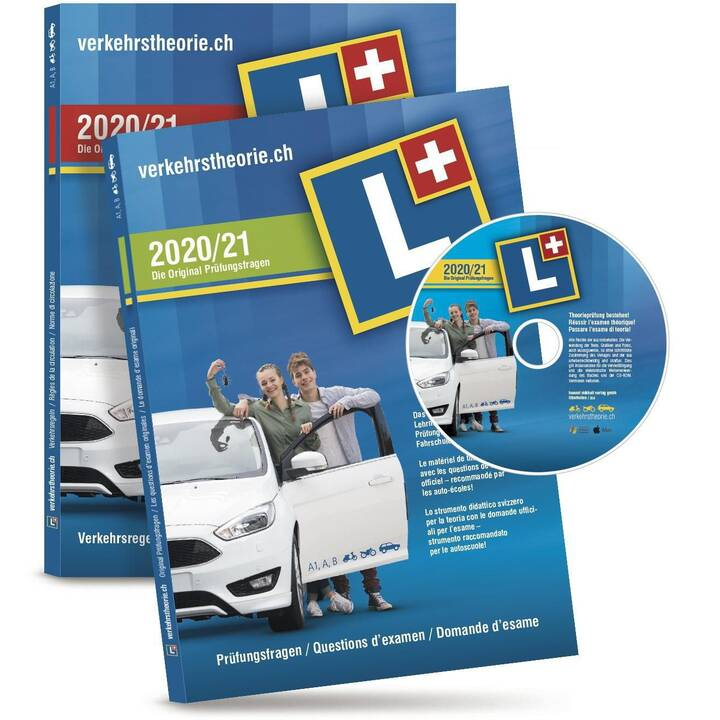 VERKEHRSTHEORIE.CH Kat. A+B Set 2020/21 (Version complète, Allemand, Français, Italien)