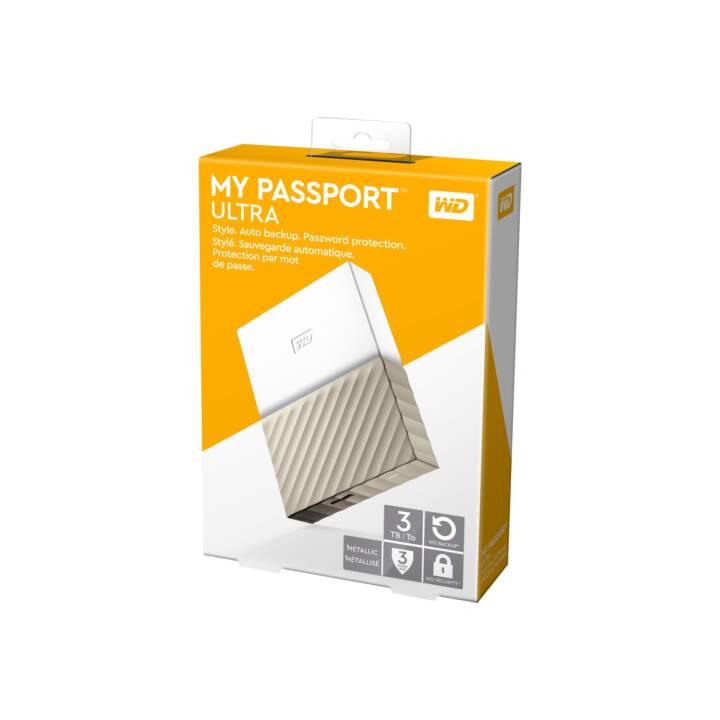 WD My Passport Ultra (USB 3.0, 3 TB, Oro)