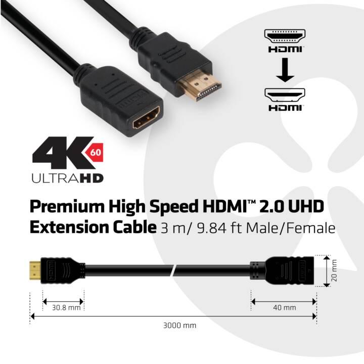 CLUB 3D HDMI - HDMI, 3 m