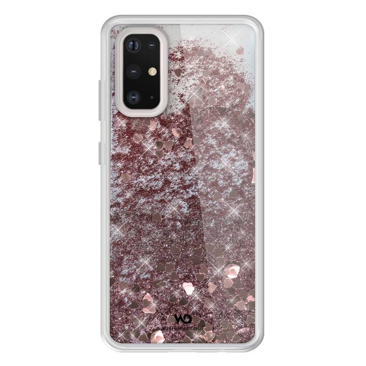 WHITE DIAMONDS Backcover Sparkle (Galaxy S20+, Pink, Bianco)