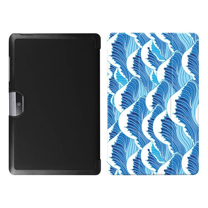 """EG MTT Tablet Tasche mit faltbarer Abdeckung für Acer Iconia Tab 10 10.1 """"- Blue Wave"""