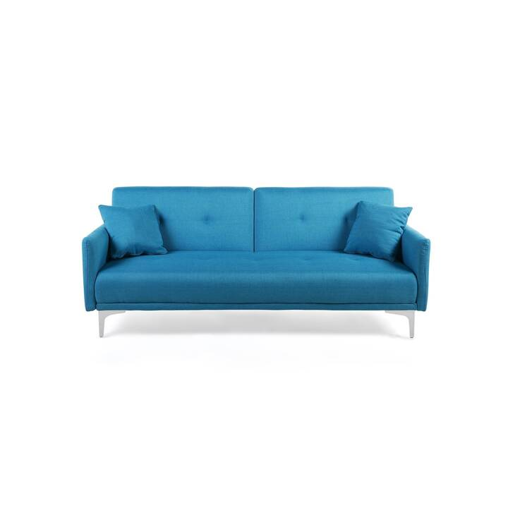 BELIANI Lucan Canapé-lit (Polyester, Bleu méditerranée)