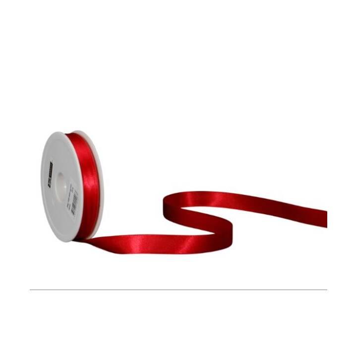 SPYK Nastri regalo (16 mm x 25 m, Rosso, Unicolore)