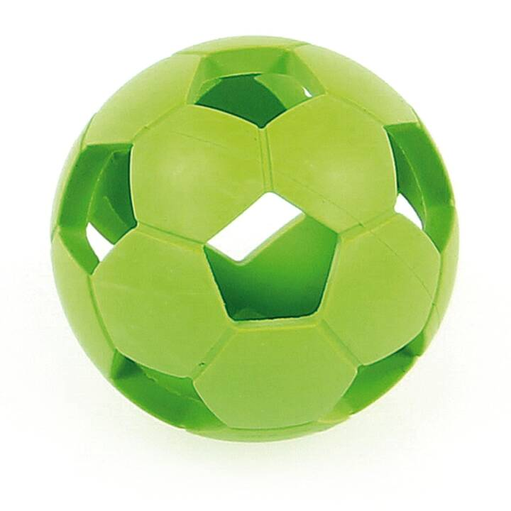 SWISSPET Wurfspielzeug Weichgummi-Fussball, Grün (5 cm)