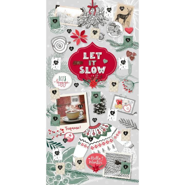 ARS EDITION Calendario dell'Avvento con note Let it slow - Hygge (70 cm x 35 cm)