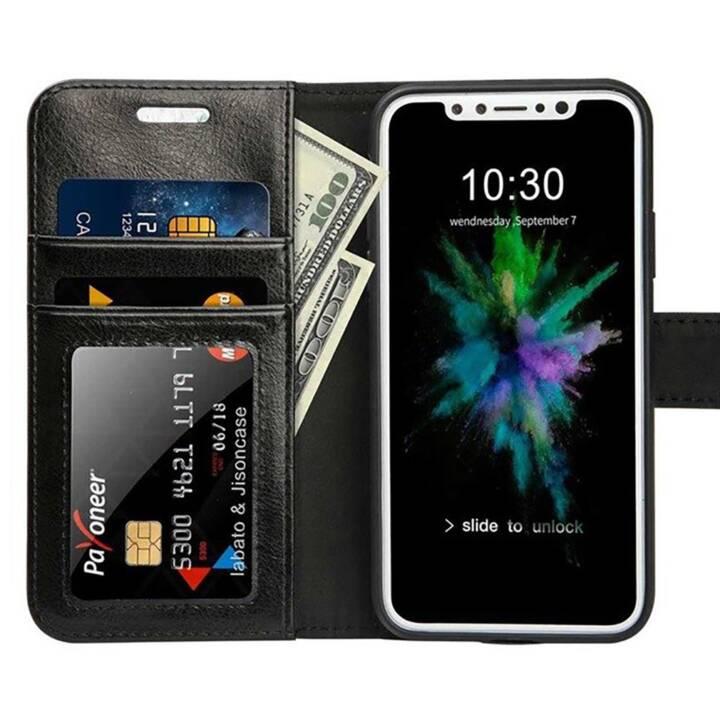 EG Jisoncase Custodia a portafoglio per Apple iPhone X XS - nera
