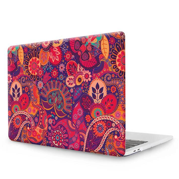 """EG MTT Copertina per computer portatile con tastiera, protezione antipolvere, penna a sfera per MacBook Pro 13"""" CD ROM - Etnica"""