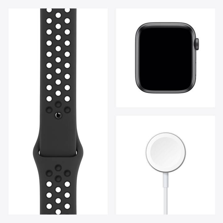 APPLE Watch Nike SE GPS (44 mm, Aluminium, Silikon)