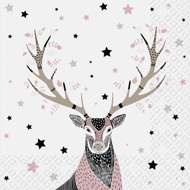 STEWO Papierserviette Harrison  (33 cm x 33 cm, 20 Stück, Weihnachten)