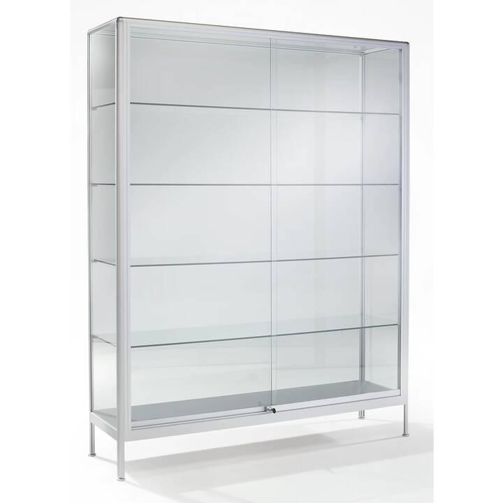 OFFICE AKKTIV Vitrine (80 cm x 50 cm x 195 cm, Aluminium, Glas)