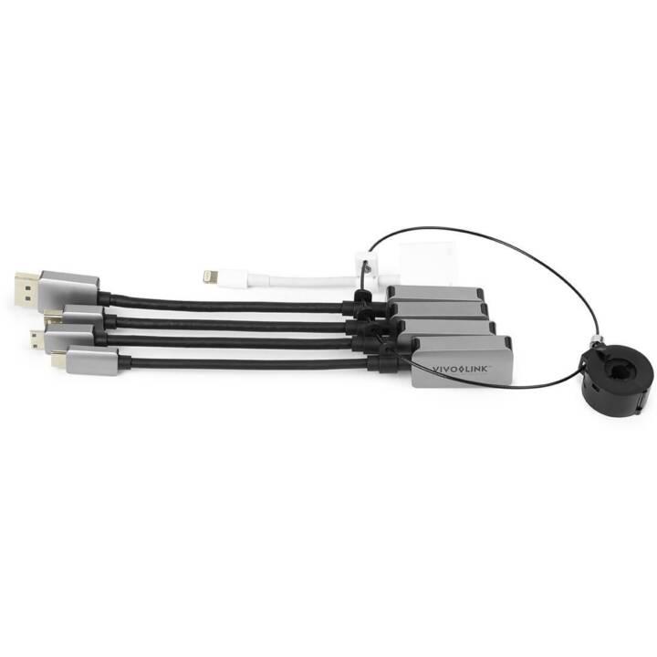 VIVOLINK HDMI Adapterring (USB-C, DisplayPort, Mini DisplayPort, MiniHDMI, Lightning)