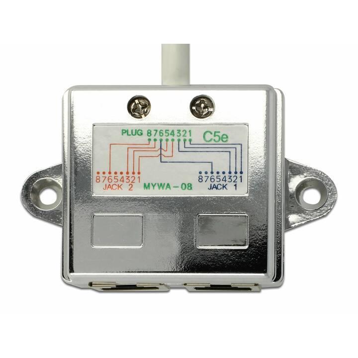 DELOCK RJ45 LAN-Anschlussverdoppler (15 cm)