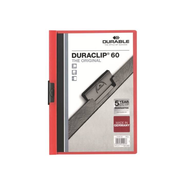 DURABLE Druaclip 60 A4 Rosso