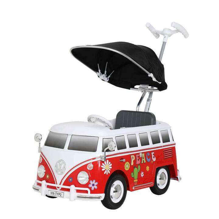 ROLLPLAY Veicolo di spinta VW BUS T1 Flower Power (Rosso, Bianco)