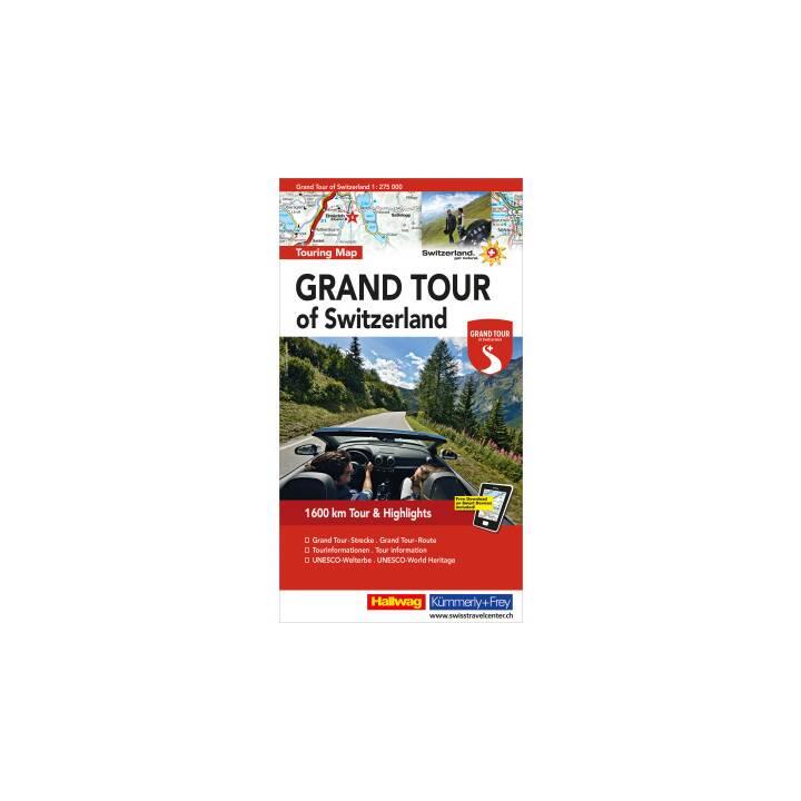 HALLWAG Grand Tour de Suisse 1:275'000