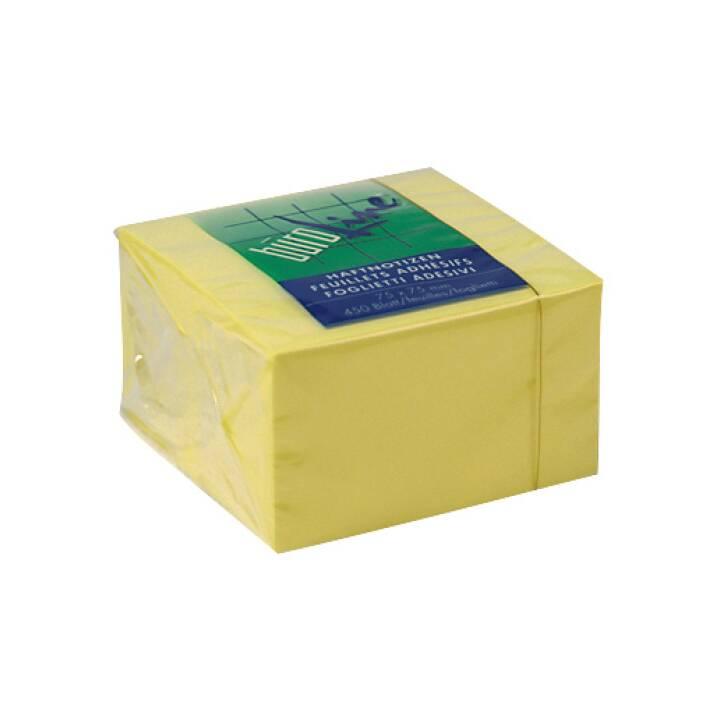 BÜROLINE Notes Cube 75x75mm giallo 450 fogli