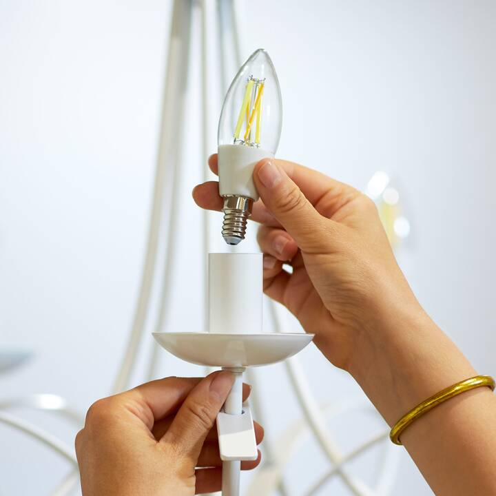 WIZ Filament Transparent C35 Ampoule LED (E14, WLAN, 4.9 W)