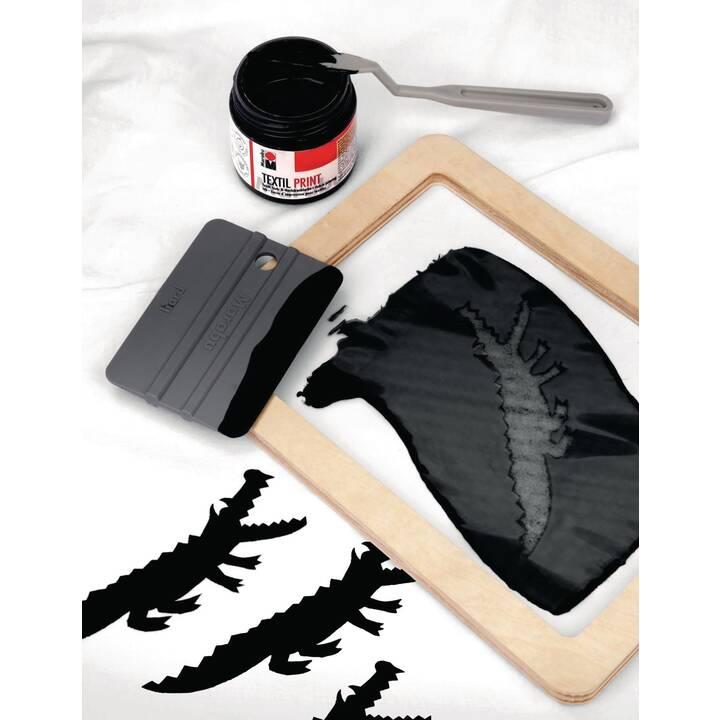 MARABU Colore tessile Screen Printing Set (100 ml, Nero)