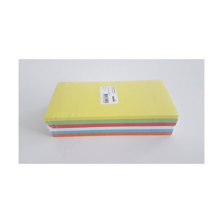 Cartes BEREC 6 couleurs rectangle 205x95mm 300 pcs.