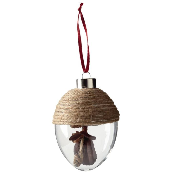 LEONARDO Appendiabiti in vetro ghianda Castagna