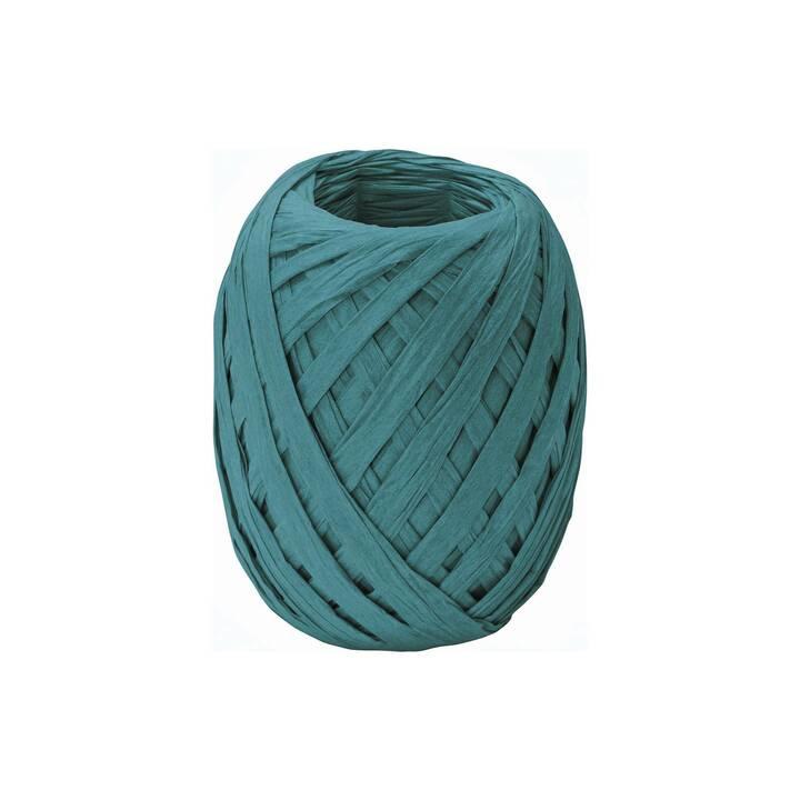 STEWO Geschenkband (7 mm x 30 m, Türkis, Einfarbig)