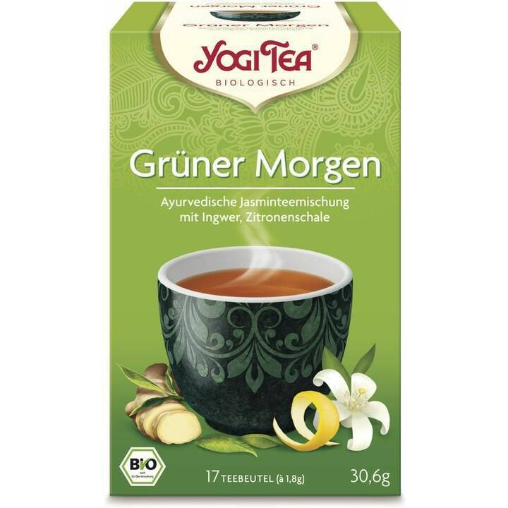 YOGI TEA Grüner Morgen Tè d'erbe (Bustina di tè, 17 pezzo)