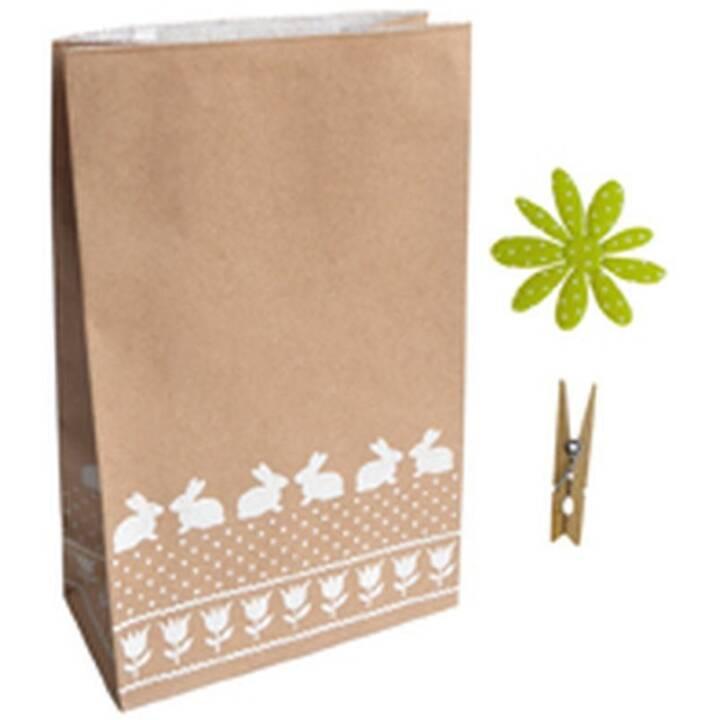 Kraftpapier-Tüte 100 g/m2 weisse Hasen 2