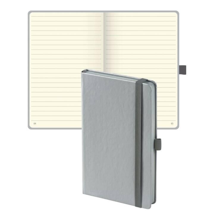 BIELLA Carnet de notes Kompagnon Code couleur A5, doublé, gris