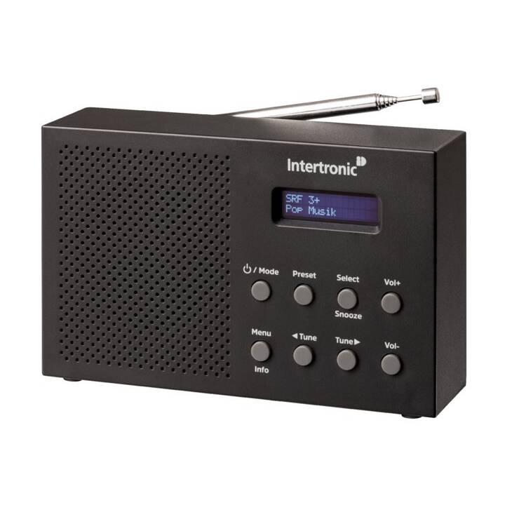 INTERTRONIC DAB+/FM RA-28 Digitalradio (Schwarz)