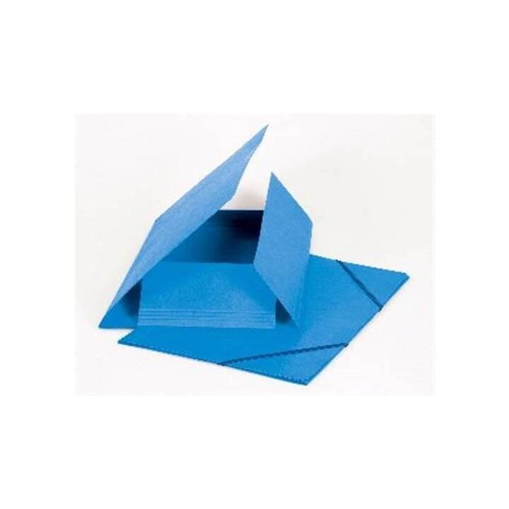 Cartella elastica BIELLA A4 azzurro chiaro