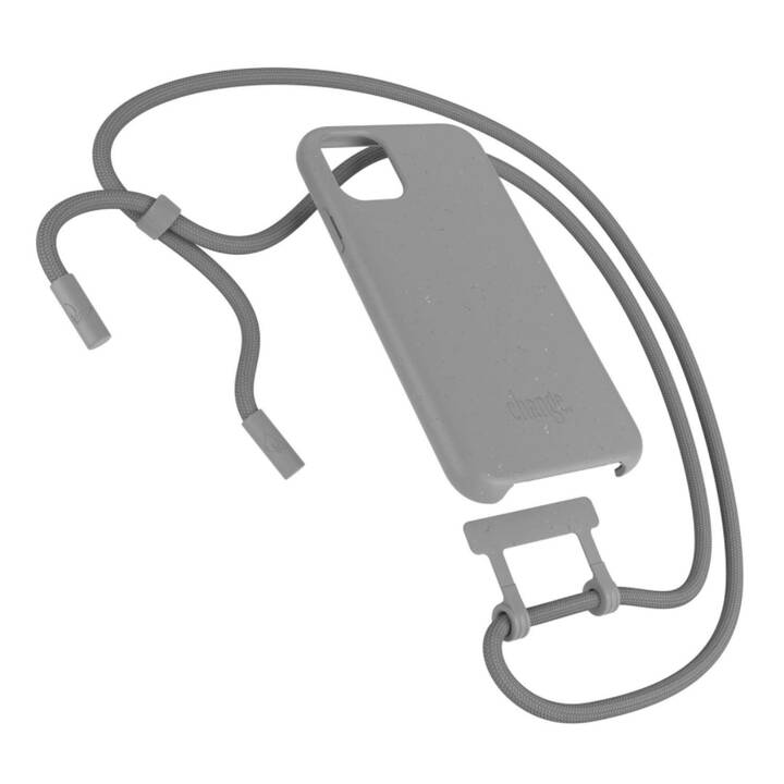 WOODCESSORIES Backcover con cordoncino Change Case (iPhone 11, Antibatterico, Grigio)