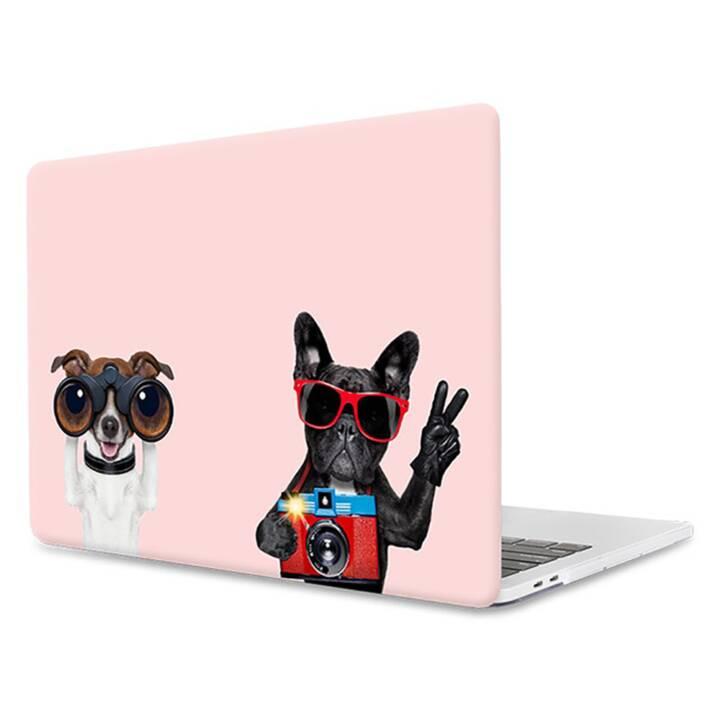 """EG MTT Copertina per computer portatile per Macbook 12"""" Retina - Rosa Divertenti cani rosa"""