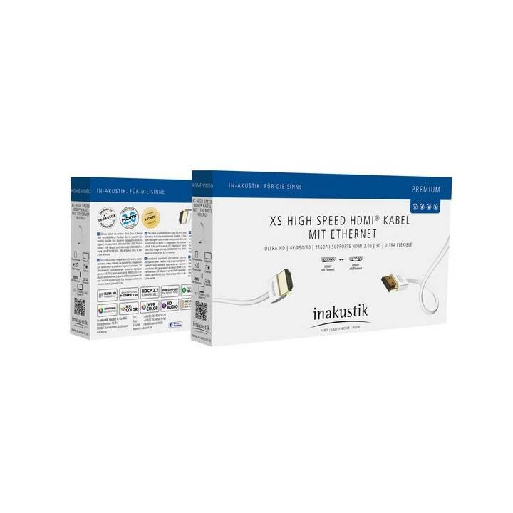 IN-AKUSTIK Premium XS High Speed Câbles de liaison