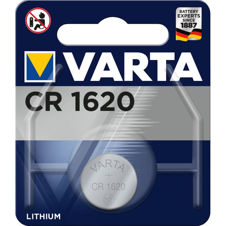 VARTA Batterie (Universell, CR1620, 1 Stück)