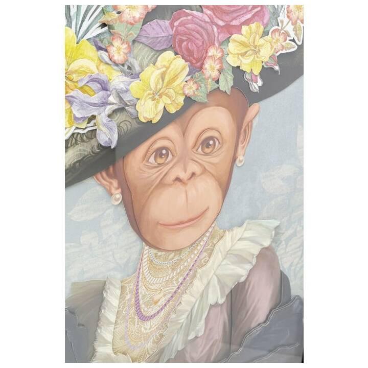 KARE Immagine senza cornice Monkey Lady (Multicolore)