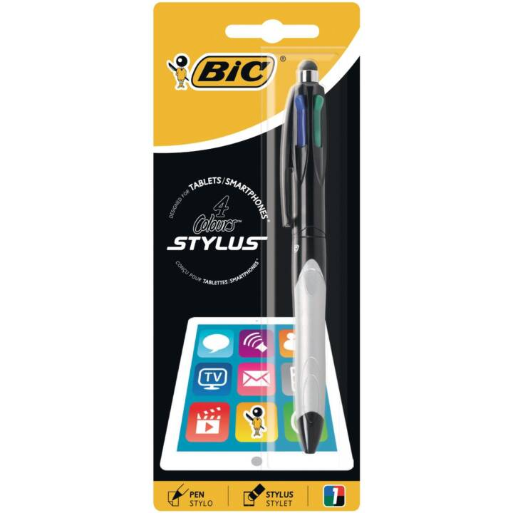 Stylet BIC 4 Couleurs Stylet Touchpen