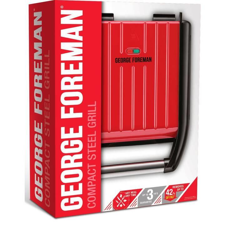 GEORGE FOREMAN 25030-56 Steel Compact Fitnessgrill 1200 Watt Kontaktgrill