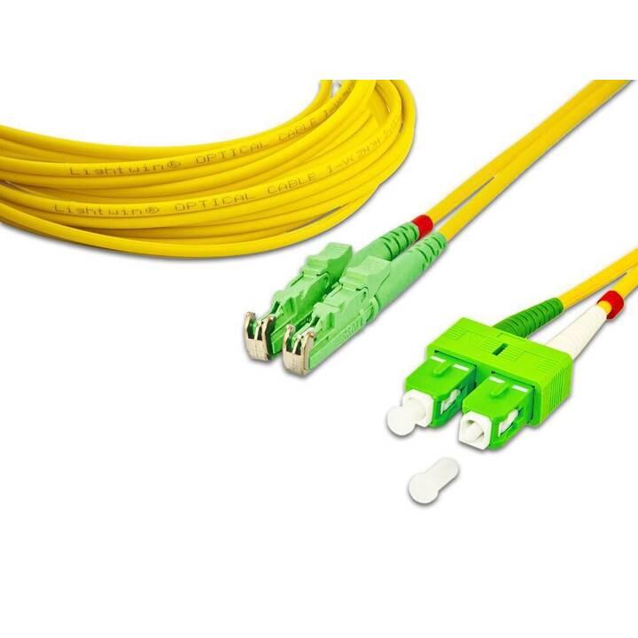 LIGHTWIN Netzwerkkabel (SC Single-Modus, E-2000 (APC), 3 m)