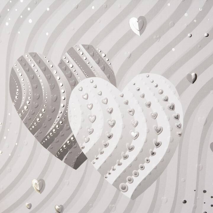 GOLDBUCH Silver Hearts Album fotografico (Argento)