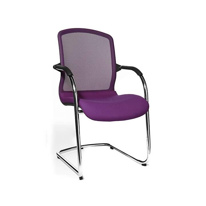 TOPSTAR Open Chair Konferenzstuhl (Violett, Schwarz, Chrom, 2 Stück)