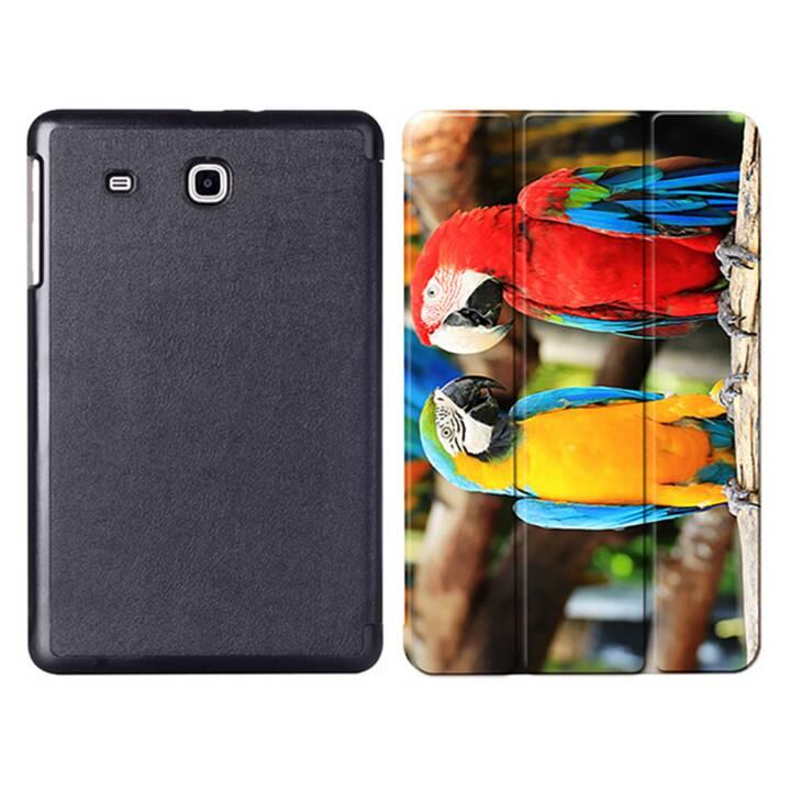 """EG MTT Sacoche à comprimés avec couvercle rabattable pour Samsung Galaxy Tab E 9.6"""" - Perroquets"""