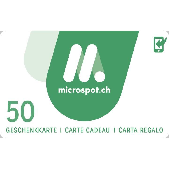 Carta regalo MICROSPOT CHF 50.00