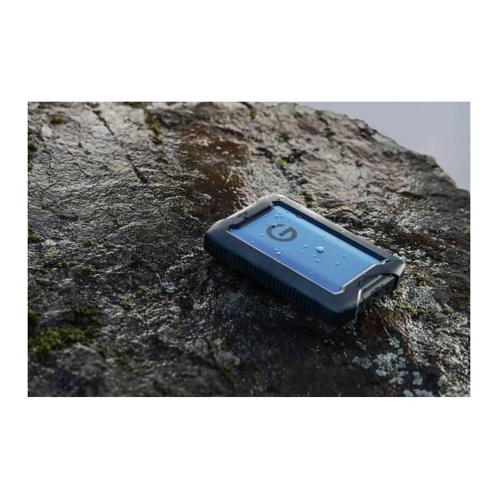 G-TECHNOLOGY ArmorATD (USB 3.0, USB Tipo C, 2 TB, Blu, Nero)