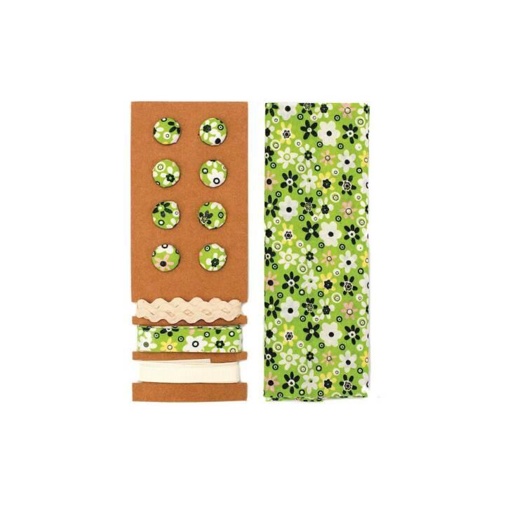 GLOREX Mélange de boutons (Vert, 8 Pièce)